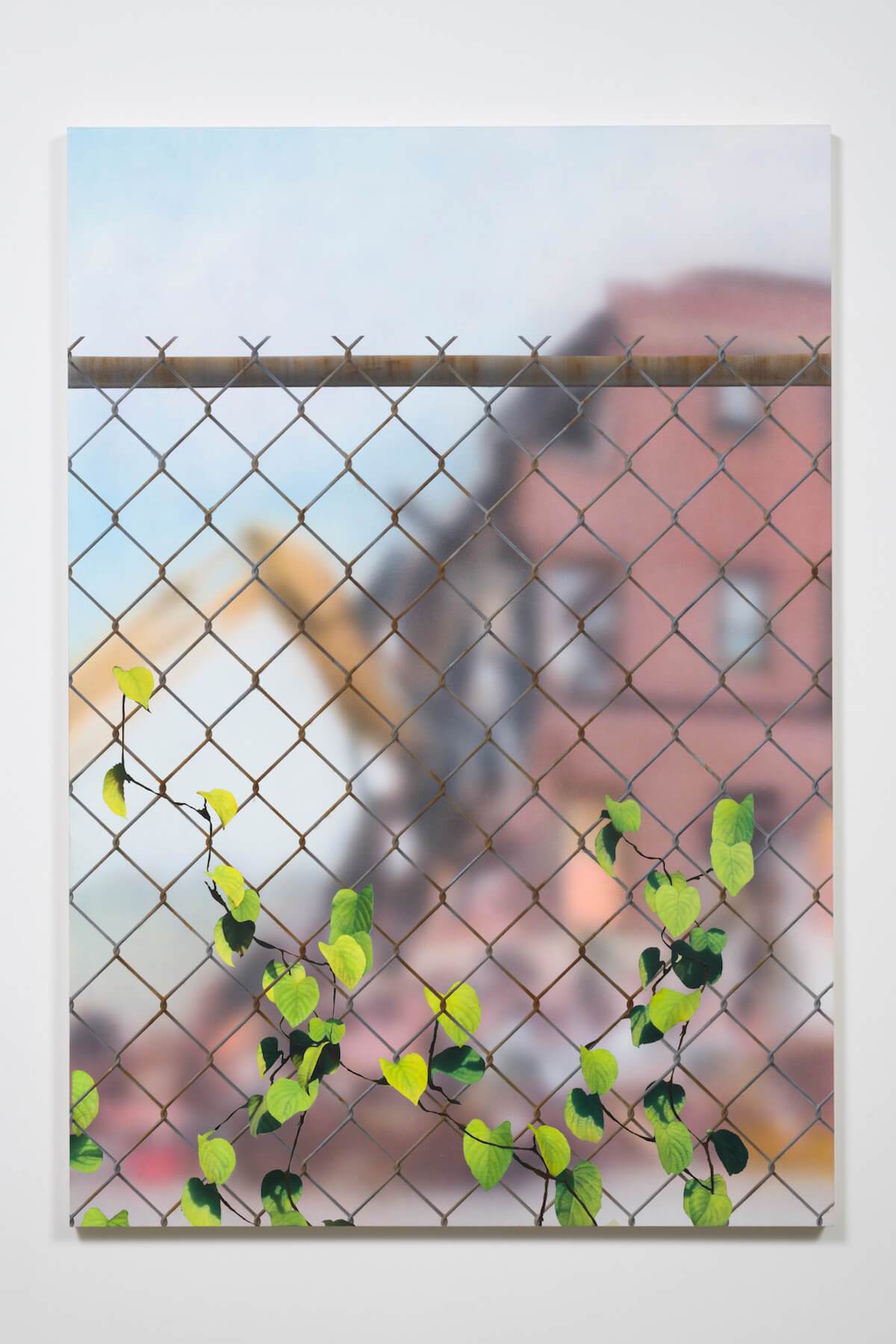 Gomez, Building in Deconstruction with Chain Link, 2017 (SG 17.027) A