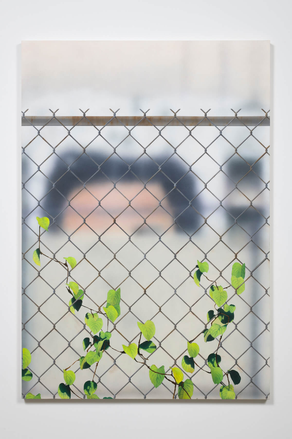 Gomez, Mural with Chain Link and Ivy, 2017 (SG 17.026) A