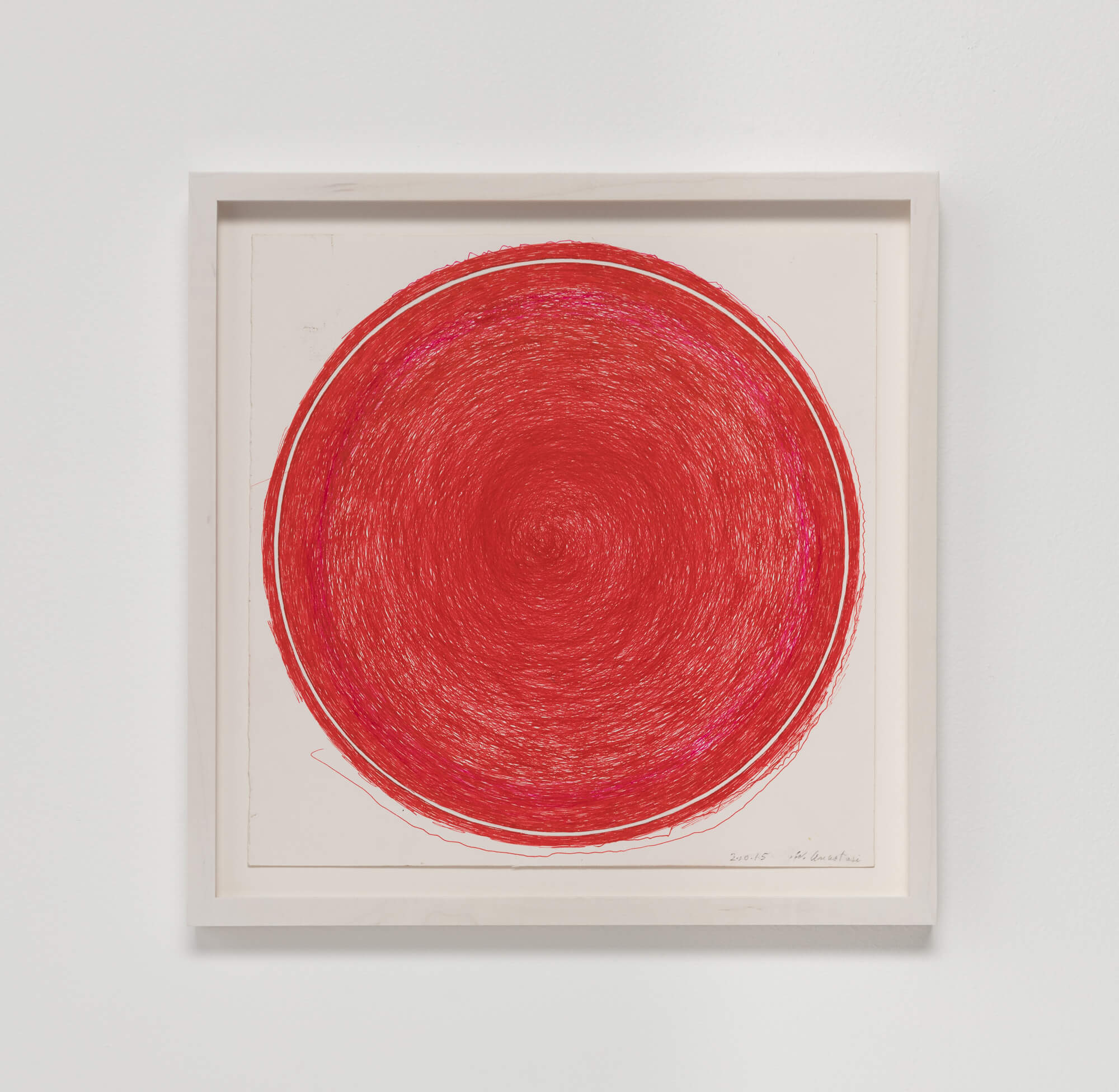 Anastasi, Untitled (Red Circle), 2015 (WA 15.001) A