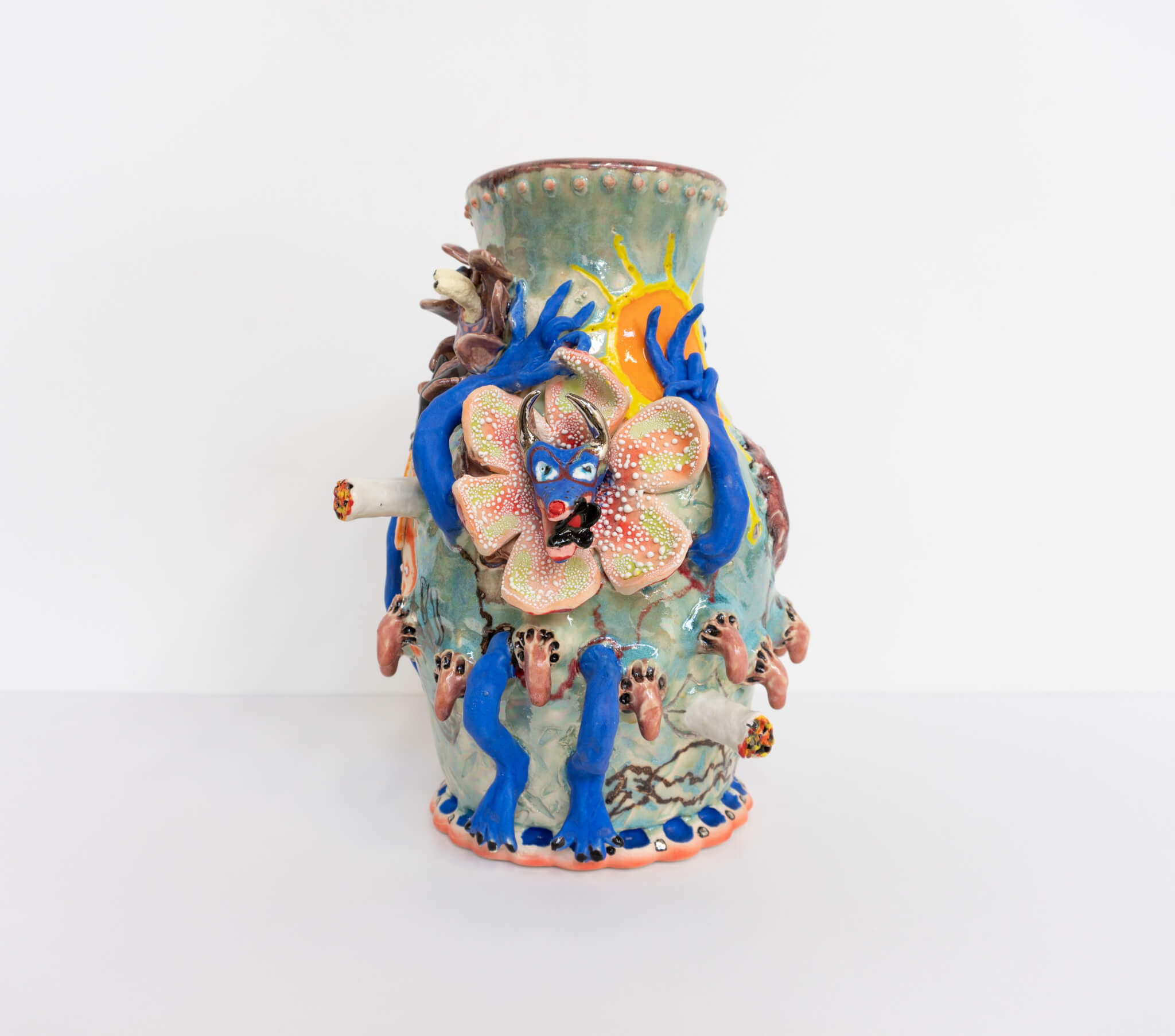 Farrag, Ice Blue Coyote Jug, 2019 (SF 19.026) A