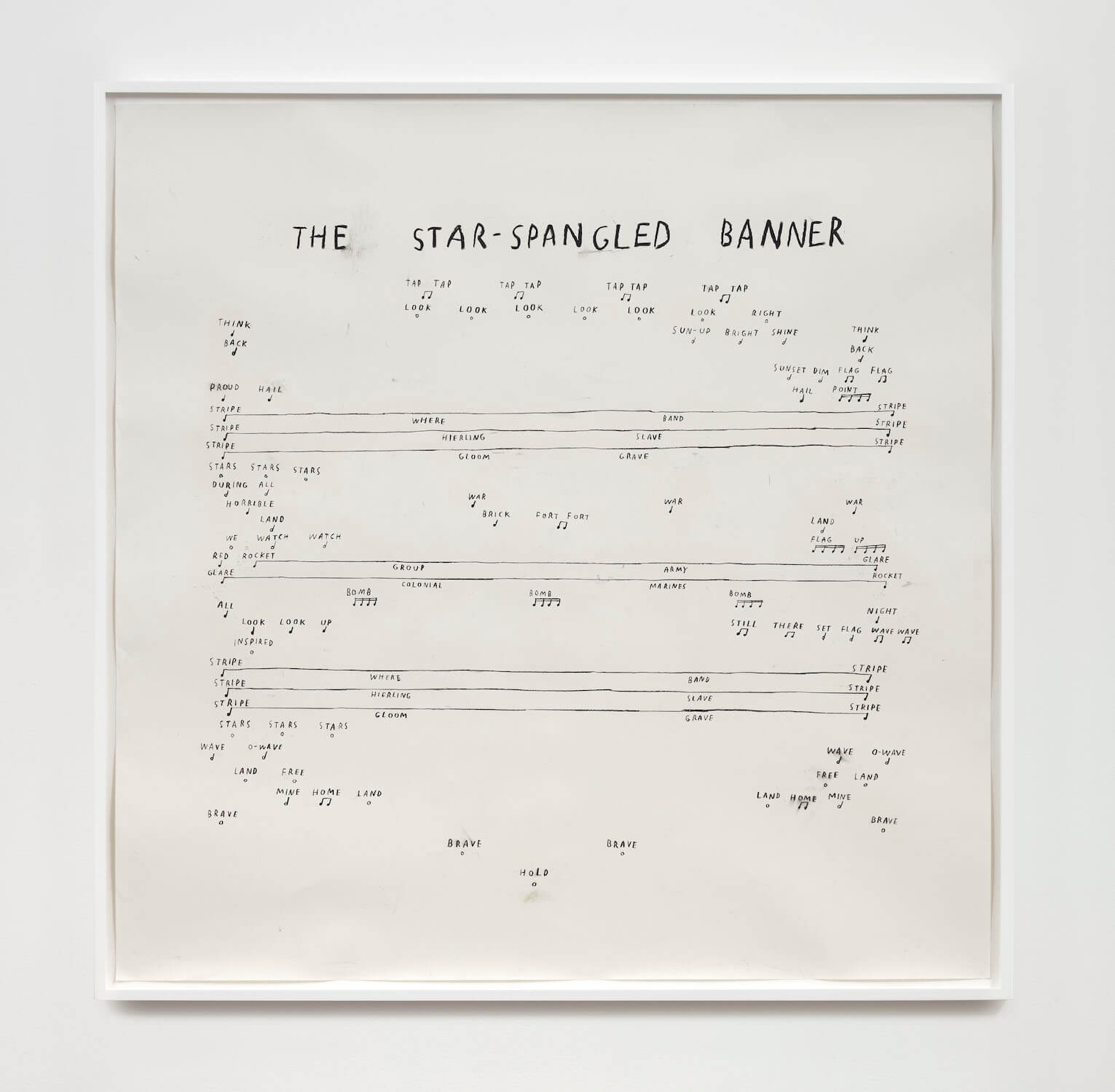 Kim, The Star-Spangled Banner (Third Verse), 2020 (CSK 20.019) A