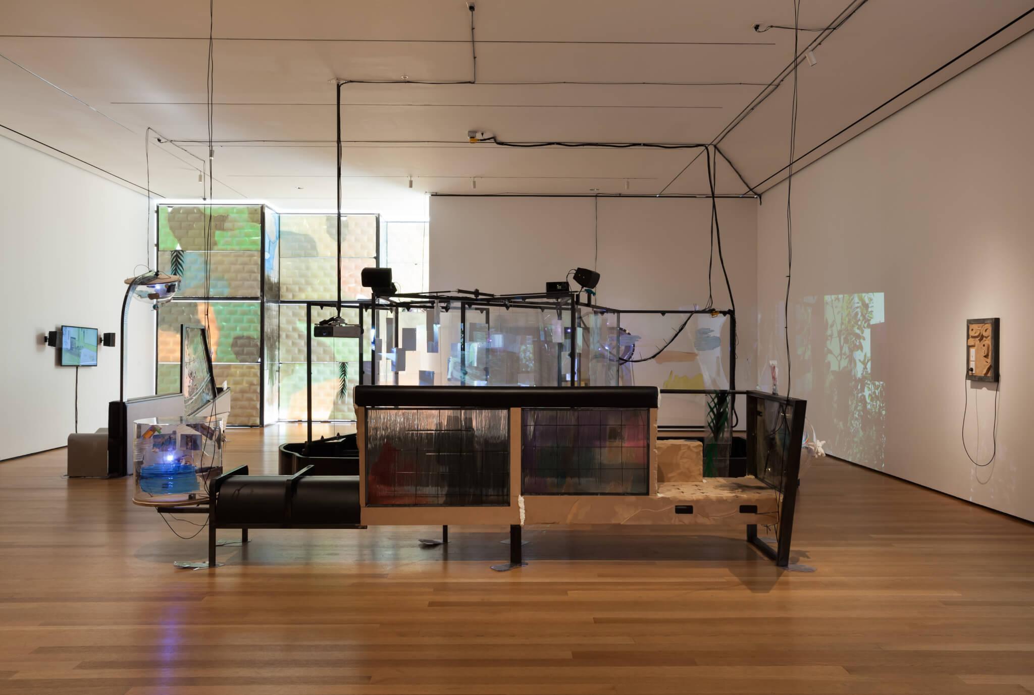 Beloufa_2016_MoMA_Install2