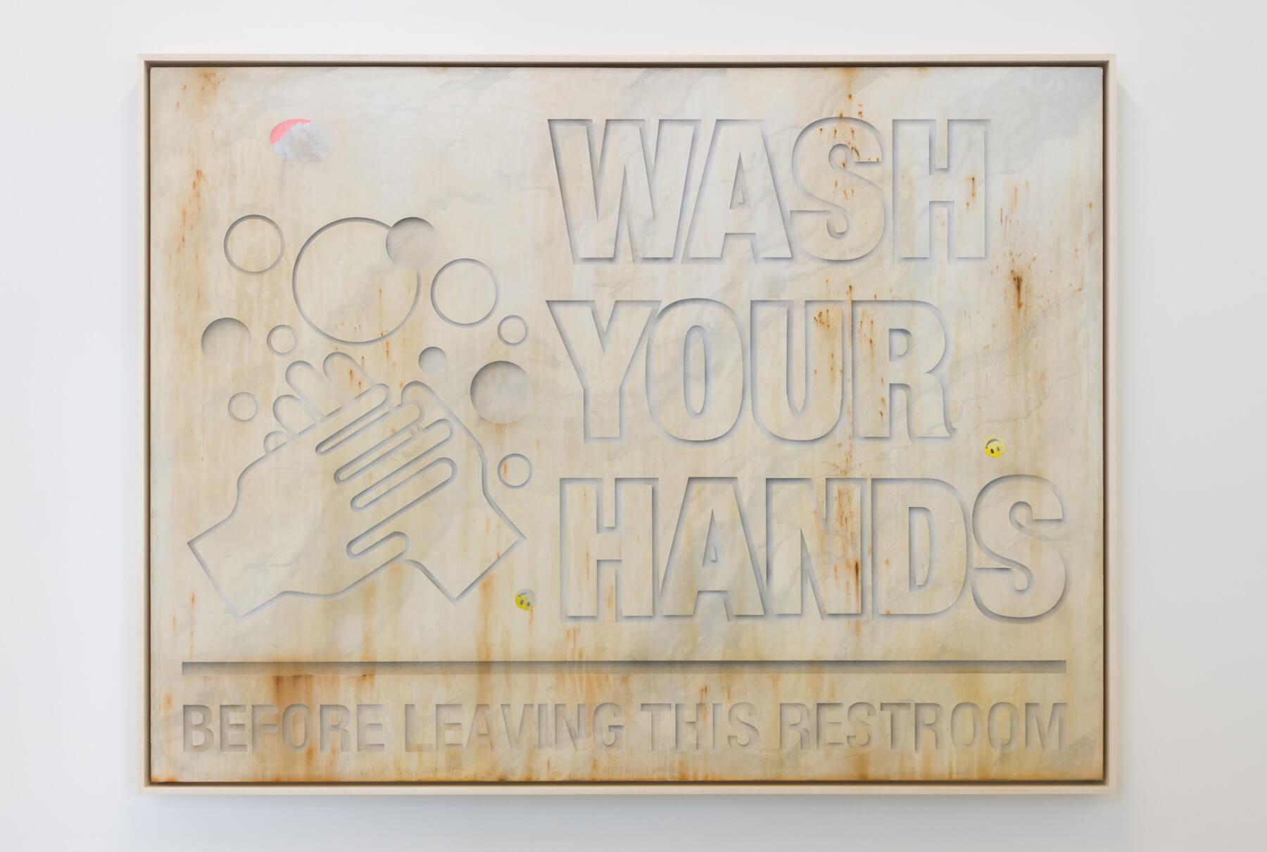 Gomez, Wash Your Hands Carrara Marble, 2017 (SG 17.029) A