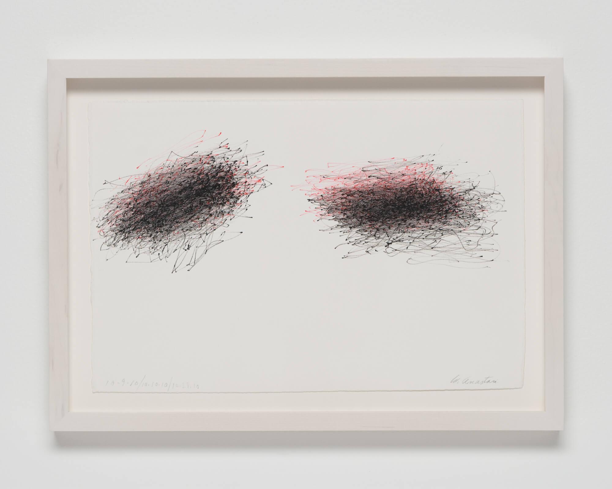 Anastasi, Untitled (Subway Drawing, 10.9.10, 10.10.10, 10.28.10), 2010 (WA 10.001) A