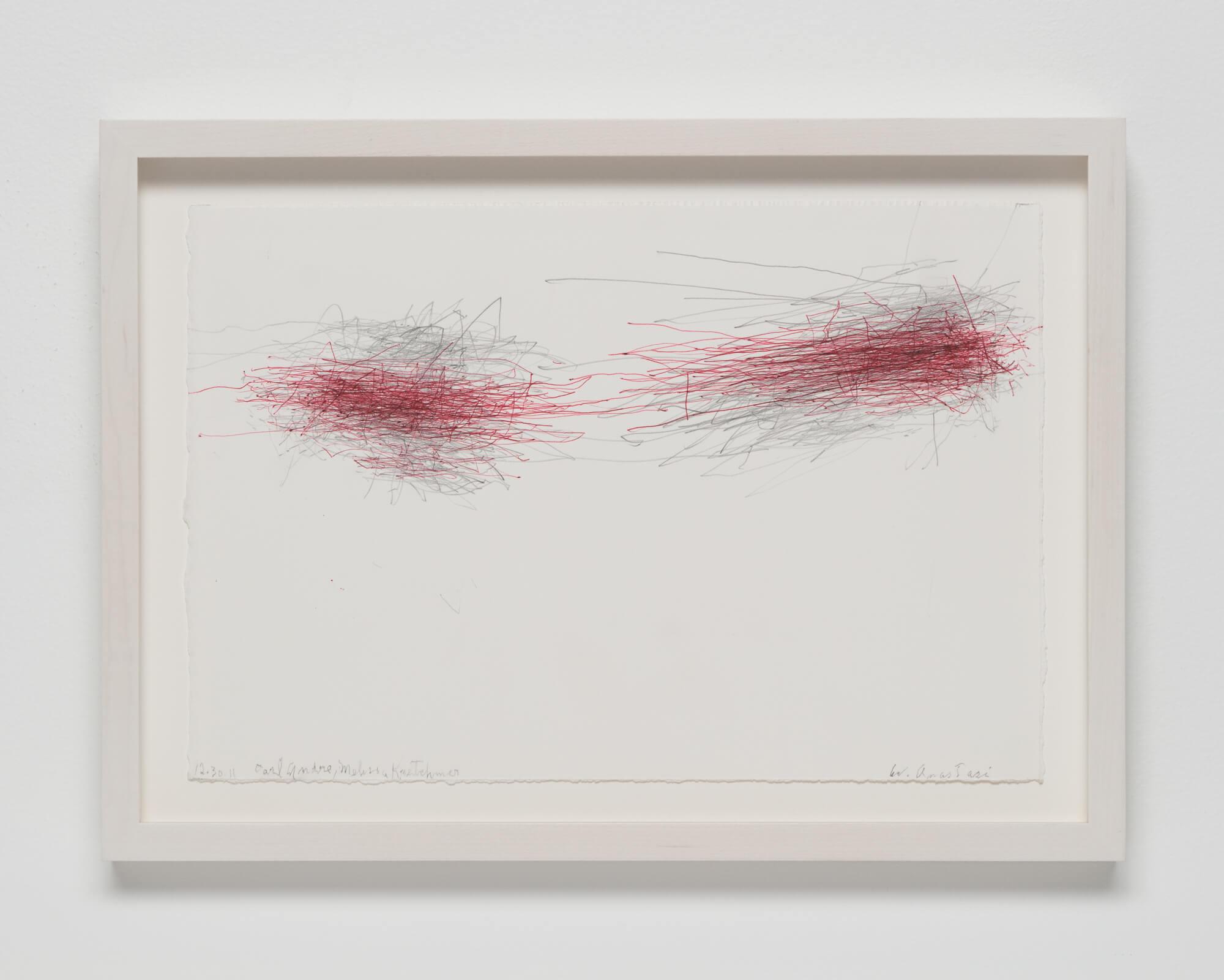 Anastasi, Untitled (Subway Drawing, 12.30.11, Carl Andre, Melissa Kretschmer), 2011 (WA 11.001) A