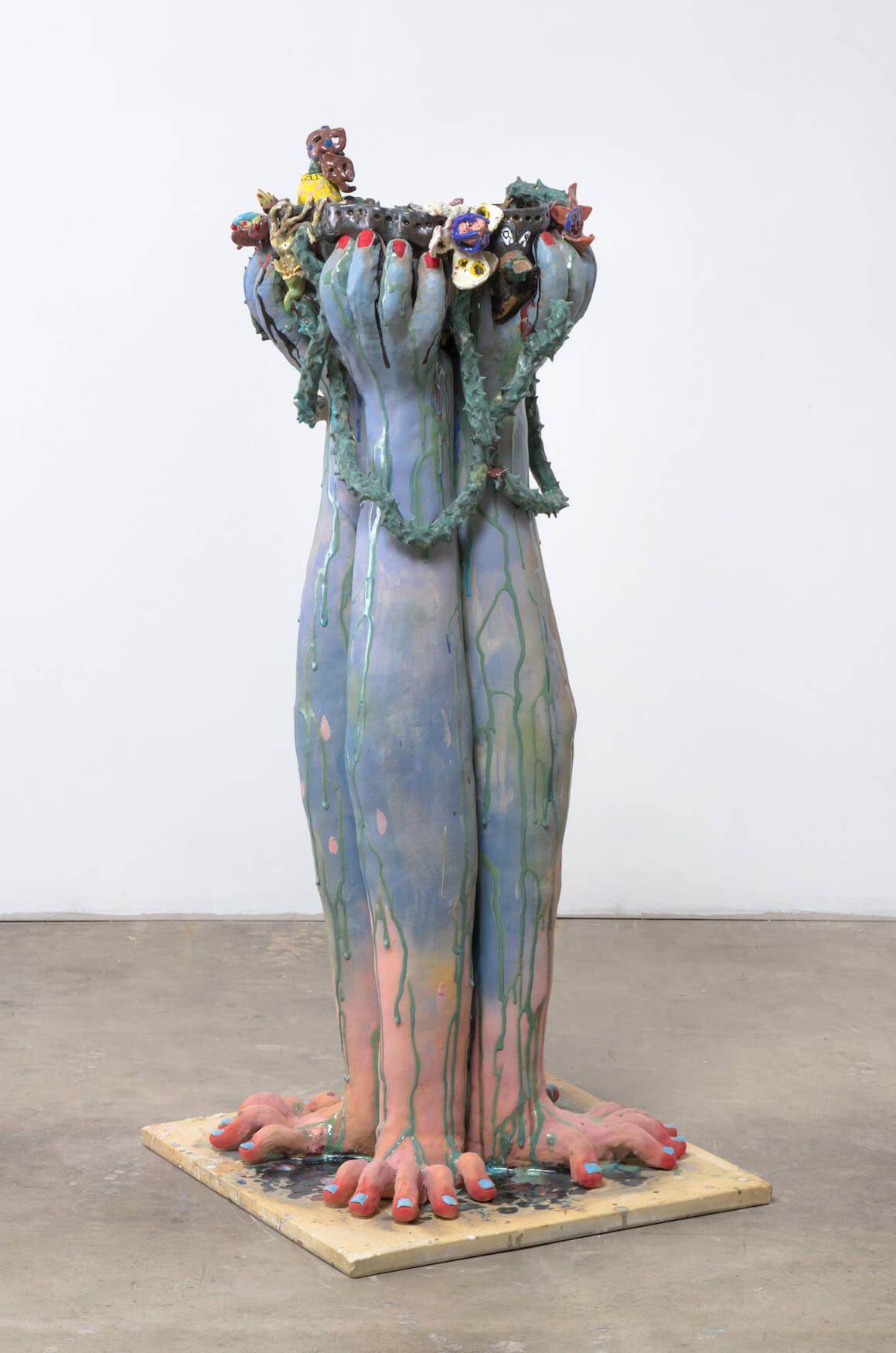 Farrag, Jumble Face Costume (Bird Bath), 2019 (SF 19.046) B